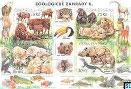 Czech Republic Stamps 2017, Nature Protection, Zoological Gardens II, Zoo, MS - Czech Republic