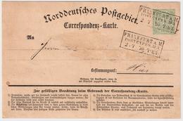 NDP, Nr. 19, Orts-Postkarte   , #9190 - Norddeutscher Postbezirk