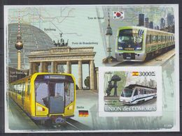 A06. Comores -  MNH - Transport - Trains - Imperf - Trains