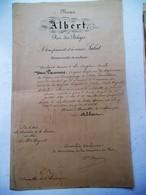 Document   Nous  Décernont  La  MéDAILLE De PREMIER2  CLASSE  à E .- EMILE  VAN DAMME  1910 - Militaria