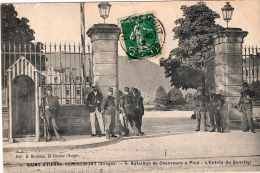 SAINT ETIENNE DE REMIREMONT 5e BATAILLON DE CHASSEURS A PIED L'ENTREE DU QUARTIER 1912 TBE - Saint Etienne De Remiremont