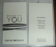 """Carte Armani """" Because It's You"""" - Modern (from 1961)"""