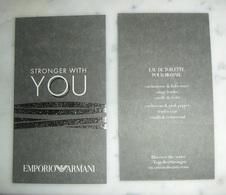 """Carte Armani """" Stronger With You"""" - Modernes (à Partir De 1961)"""