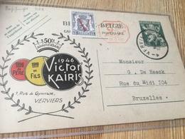 ENTIER REPIQUAGE VERVIERS 1950 Vers Bxl Repiquages Tricolore V.kairis... - Stamped Stationery