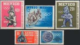 //// MEXIQUE - Yvert 721 / 722** / A 261 / 263** - Michel : 1192 / 1196** - Ete 1968: Mexico