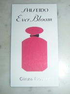 "Carte Shiseido "" Ever Bloom Ginza Flower"" - Perfume Cards"