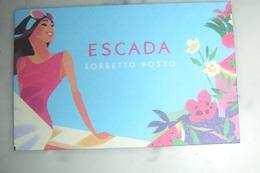 Carte Sorbetto Rosso D'Escada - Perfume Cards