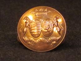 Bouton De Livrée, Armoiries De Familles, Marquis, Pair De France, Anjou,1857, XIX° Siècle. - Buttons
