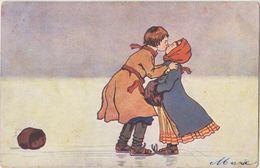Patinage / Patineurs Amoureux - Cartes Postales
