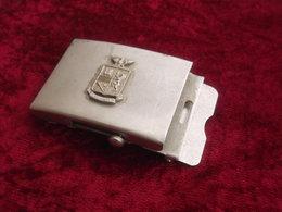 Fibbia Scorrevole Vintage Per Cinturone Polizia Di Stato Originale Anni '70/80 - Polizia