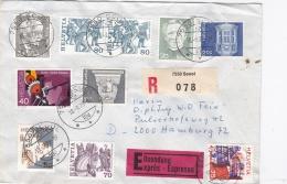 Switzerland Registered/expres Cover Scuol 1978 Franked W/plenty Stamps (G91-11) - Switzerland