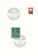 Switzerland  PTT Card Bürgenstock Vierwaldstättersee 900 M 1954  (G91-11) - Covers & Documents