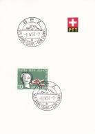 Switzerland  PTT Card Bex Ses Bains Salins - Son Climat 1958 (G91-11) - Covers & Documents