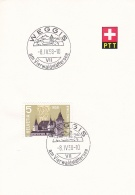Switzerland  PTT Card Weggis Am Vierwaldstättersee 1958 (G91-11) - Covers & Documents