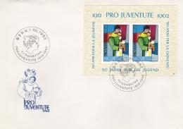 Switzerland  FDC 1962 Pro Juventute 50 Years Souvenir Sheet  (G91-11) - Pro Juventute