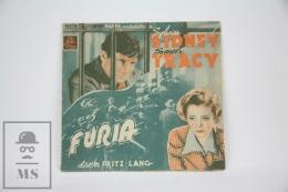 Old 1936 Fury Cinema/ Movie Advtg Image - Fritz Lang - Cast: Spencer Tracy & Sylvia Sidney - Cinema Advertisement