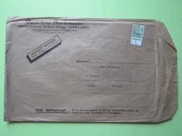 Productions Bourbonnaises (Service Orchestre) à CUSSET (Allier) / ENVELOPPE,Timbré Préoblitéré 20 F Vert 1959 - Postmark Collection (Covers)