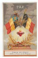 PAX  1914-1918 Coeur De Jésus   Salut Et Espoir De La Belgique 1919 - Guerre 1914-18