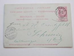 TRAZEGNIES , 1904 , Carte Postale - 1893-1900 Thin Beard