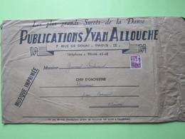 Publications Yvan ALLOUCHE à PARIS (IXè) / ENVELOPPE,Timbre Préoblitéré 15F Lilas 1957 - Postmark Collection (Covers)