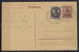 Entier Postal Allenstein Avec Timbre Du Traité De Versailles En 1930 - Germany