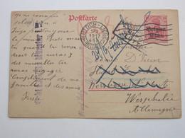 """1917 , Carte Postale  A Allemagne , Retour """" Nicht Lager Münster"""" - WW I"""
