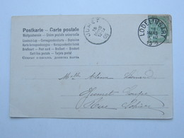 LODELINSART , 1905 , Carte Postale ( Timbre Defect) - 1893-1907 Coat Of Arms