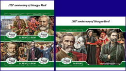 SIERRA LEONE 2018 MNH** Giuseppe Verdi Composer Komponist Compositeur M/S+S/S - OFFICIAL ISSUE - DH1808 - Musik