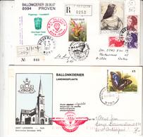 Belgique Courrier Par Ballon  Vers L'étranger      8 Pieces      4 Scan - Airmail