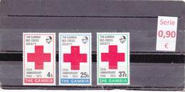 Gambia -  Serie Completa Nueva**  -  Cruz Roja  -  Red Cross  3/3076 - Gambia (1965-...)