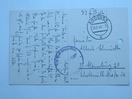 1941 , AROLSEN ,  SS-Ersts Abteilung , Karte Mit  Kaserne Der Einheit , 1 Aktenloch - Germany