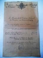 2 Talig Document   Van DAMME  E. E.  MéDAILLE  D' Or  De L' ORDE De Léopold      1923 - Altri