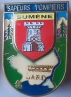 INSIGNE POMPIERS DU GARD SUMENE - Firemen