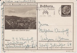 DR 3 Reich Ganzsache P 236 Bildpostkarte Gernrode / Harz Gel MWSt Hannover 1938 - Deutschland