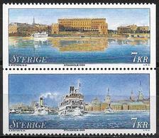 1998 Schweden Sverige   Yv. 2038-9  Mi. 2056-7 **MNH  Stockholm Cultural Capital Of Europe - Europäischer Gedanke