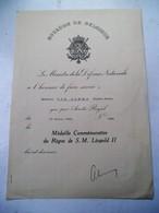 Chevalier De L' Ordre De Léopold    Avec Glaives  1942    à Van  Damme  E.E - 1939-45