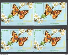 Y596 IMPERF GUINEA ECUATORIAL FAUNA BUTTERFLIES MARIPOSAS !!! 4BL MNH - Schmetterlinge
