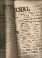 """3 Journaux """" Le Journal"""" 15,16,17 Août 1937 Combats ChanghaÏ Offensive Santander André Beaumont Env3,50 - Newspapers"""
