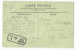 Marcophilie -  Domrémy 88 Vosges 22/08/1914 Cachet 261e Régiment De Ligne Pour Minerbio Cap Corse - Postmark Collection (Covers)