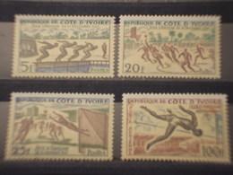 COTE D'IVOIRE - 1961 SPORT  4 VALORI - NUOVI(++) - Costa D'Avorio (1960-...)