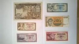 Lot De 6 Billets De Banque YOUGOSLAVIE - Yugoslavia