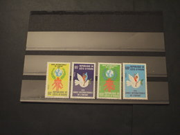 COTE D'IVOIRE - 1979 INFANZIA/COLOMBA 4 VALORI - NUOVI(++) - Costa D'Avorio (1960-...)