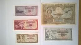 Lot De 5 Billets De Banque YOUGOSLAVIE - Yugoslavia