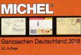 Katalog MICHEL 2018 Ganzsachen Deutschland New 98€ Deutsches Reich DDR SBZ Berlin BRD AM-Post OPD Saar Danzig Memel - Libri