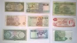 Lot De 9 Billets De Banque AFRIQUE / Mauritius , Egypte , Afrique Du Sud , Mozambique ,Guyana, Namibie , Yemen - Billets