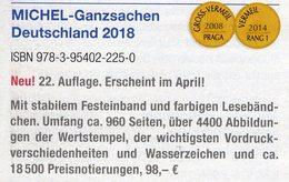 MICHEL Ganzsachen Deutschland Katalog 2018 Neu 98€ Deutsches Reich DDR SBZ Berlin BRD AM-Post OPD Saar Danzig Memel - Collections