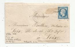 Lettre , 1860, LE CHATEAU D'OLONNE , LA ROCHELLE , 2 Scans - Poststempel (Briefe)