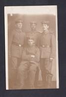 Carte Photo Guerre 14-18 Langerwehe Groupe Soldats Allemands I. R. 99 30. Division Liste Villes Traversees Au Verso - Guerra 1914-18