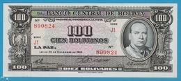 BOLIVIA 100 BolivanosL.1945Série J1 890824 P# 147 - Bolivia