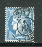 Y&T N°60A Bureau De Passe 1307 - 1871-1875 Cérès
